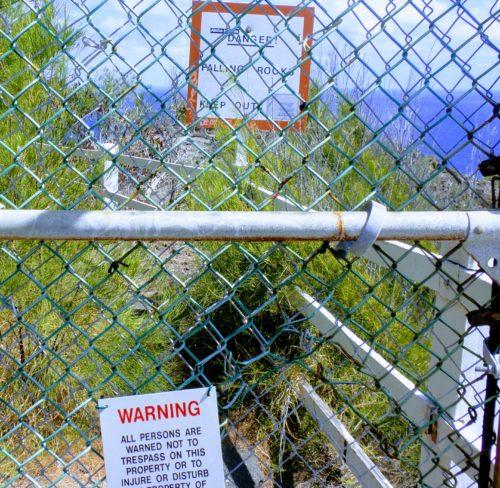 フェンス マカプウ灯台 立ち入り禁止